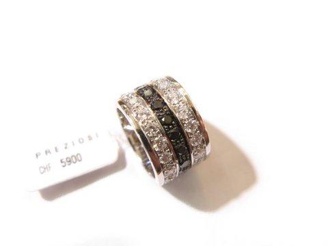 Anello fascia diamanti neri