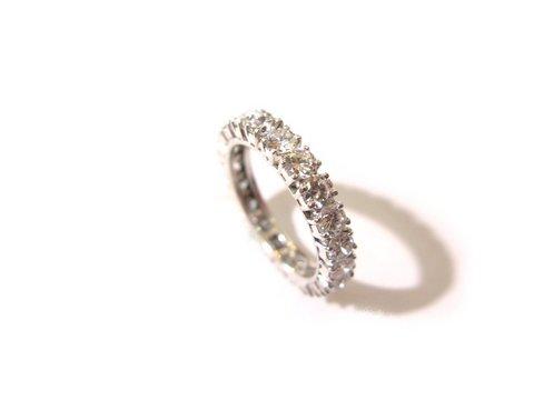Anello eternity veretta diamanti