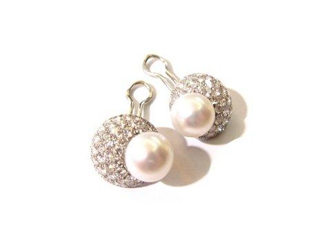 Orecchini perla e diamanti