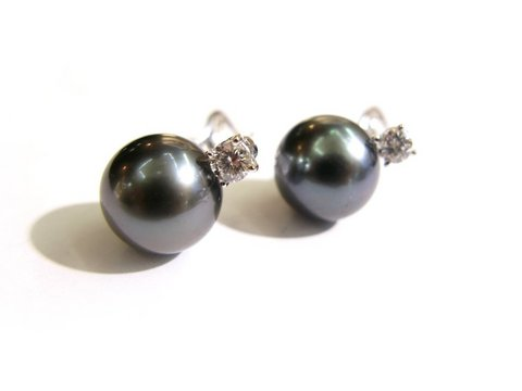 Orecchini perla nera tahiti