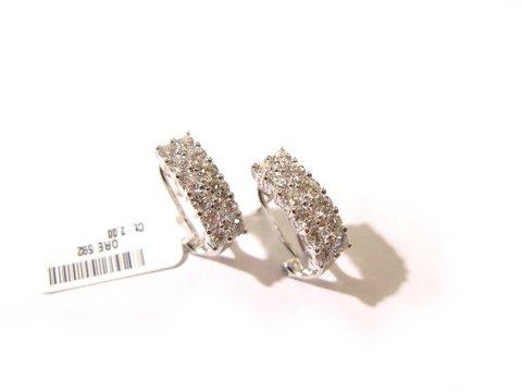 Orecchini oro bianco e diamanti