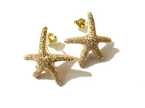 Orecchini stella marina in oro rosa