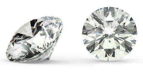 Diamante taglio brillante j / vvs2 certificato