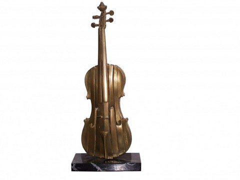 Arman violino scultura in bronzo