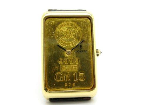Corum lingotto oro puro 15 gr  da collezione
