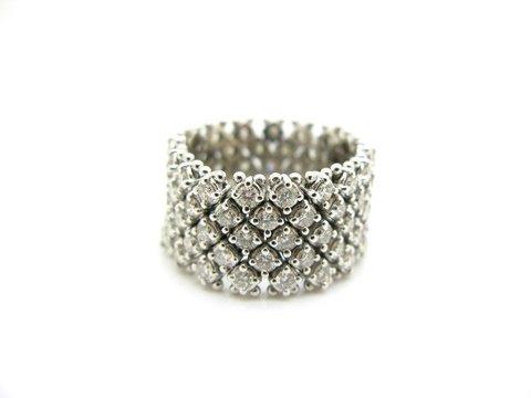 Anello fascia morbida di diamanti taglio brillante