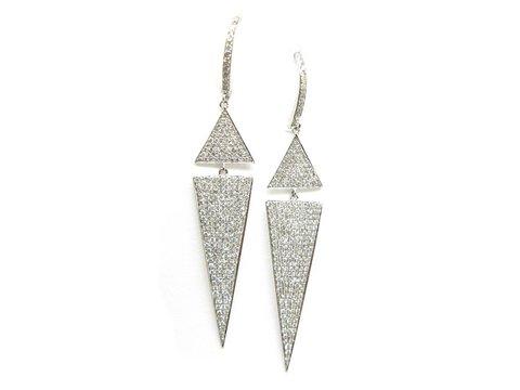 Orecchini pendenti in oro bianco moderni --- gioielli lugano