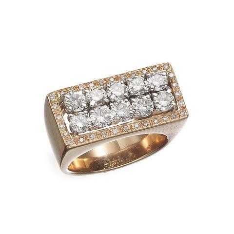 Anello In Oro Rosa 18 Kt Con Diamanti Taglio Brillante