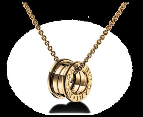 Girocollo bzero1 bvlgari in oro giallo 18 kt