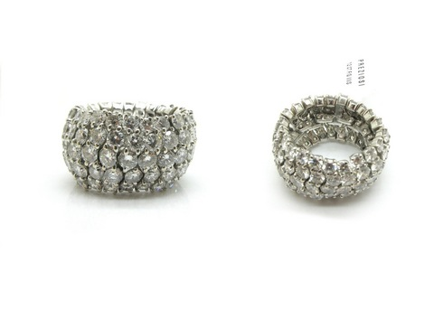 Fascia morbida diamanti 5 file con 12 kt di diamanti