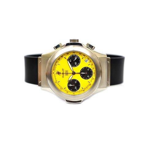 Hublot  mdm navy chrono yellow da collezione lugano