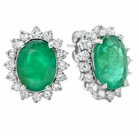Orecchini con smeraldi e diamanti vendita lugano
