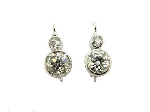 Orecchini vintage epoca diamanti taglio antico lugano