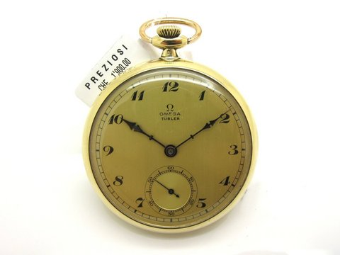 "Omega Pocket Watch For "" Turler "" Swiss Made Lugano"
