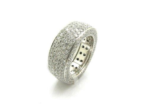 Anello eternity full pavè diamanti