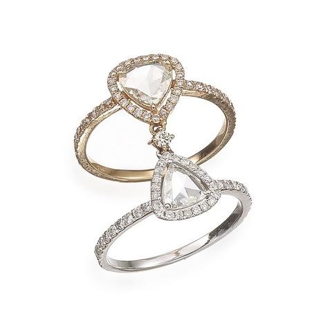 Anello bicolor con diamanti taglio rosetta occasione lugano