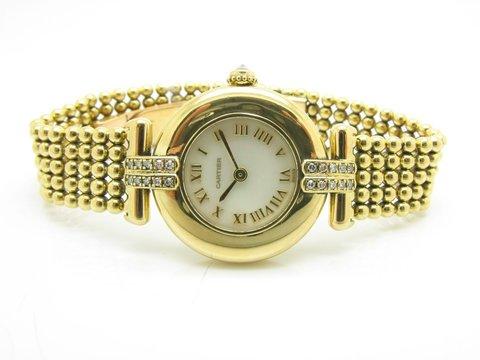 "Cartier "" Collisee "" Ref. 1980 In Oro Giallo 18 Kt Lugano"