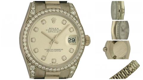 """Rolex """" Datejust """" Ref. 178159 In Oro Bianco 18 Kt"""