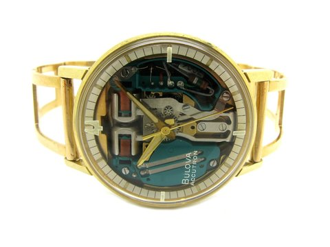 "Bulova  "" Accutron "" Spaceview Del 1964 -m4 Lugano"