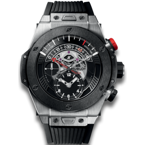"Hublot "" Unico Bi-retrograde Chrono Titanium Ceramic """