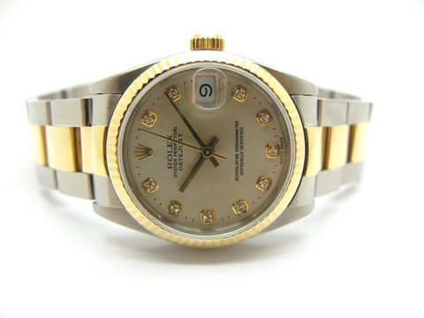 "Rolex  "" Datejust  "" Ref. 68273 Medio Con Diamanti"
