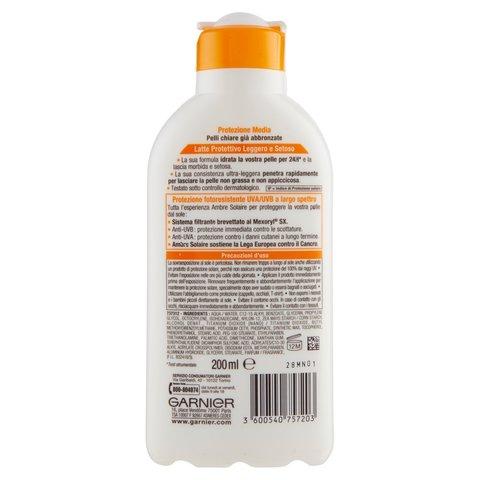 Crema solare al latte per protezione uv