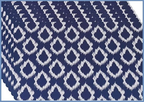 Tovagliette Americane Plastificate Blu