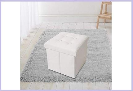 Puff contenitori bianco ecopelle