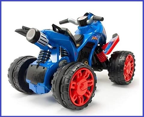 Quad elettrico per bambini 4 ruote in gomma