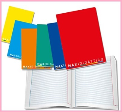 Quaderno scuola colorati
