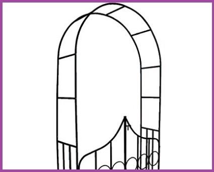 Arco giardino per fiori rampicanti