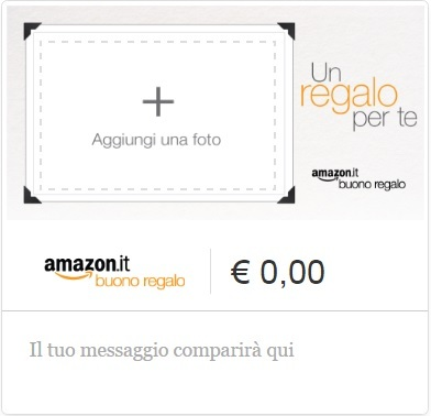 Buono regalo coupon amazon qualsiasi importo