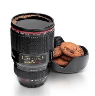 Tazza con obiettivo fotocamera reflex