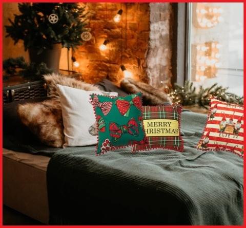 Cuscino classico con tema natalizio federa unica