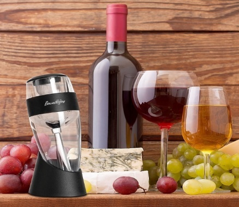 Aeratore decanter per il vino