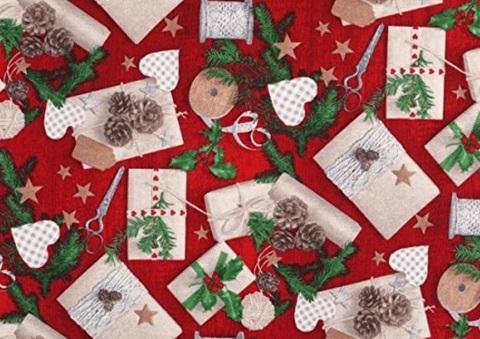 Tessuto per regali dal colore rosso decorazioni
