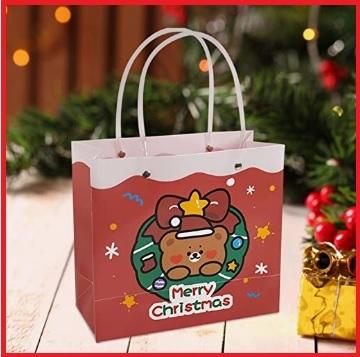 Portaoggetti borsa regalo natalizia