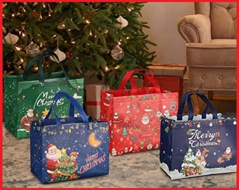 Sacchetti borse in plastica natalizie