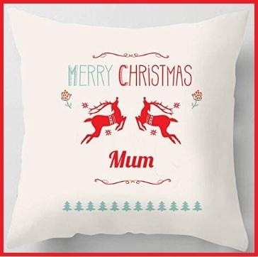 Cuscino vintage con scritta merry christmas