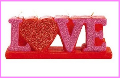 Candele di san valentino
