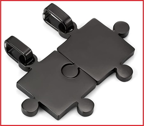 Acciaio inossidabile pendente ciondolo collana oro argento