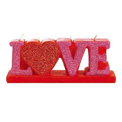 San valentino candelina maxi scritta in 3d