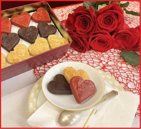 Biscotti al cuore san valentino