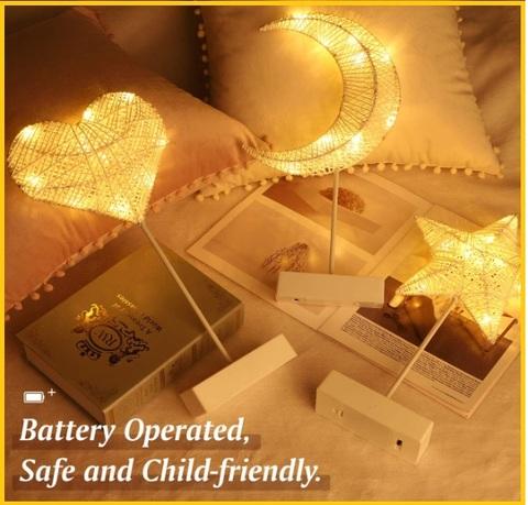 Lampadine a forma di cuore per san valentino