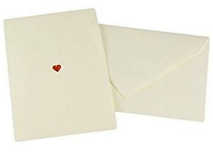 Biglietti san valentino con cartoncino