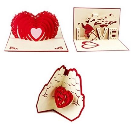 Biglietto 3d Per La Festa Di San Valentino