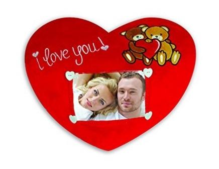 Cuscino con foto personalizzabile per san valentino