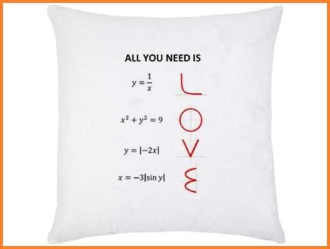 Federa cuscino amore matematica da regalare