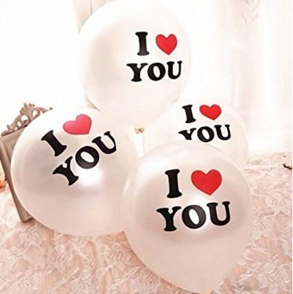 Palloncini con scritta i love you bianco