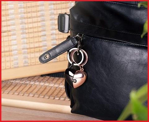 Portachiavi a forma di cuore personalizzabile con specchio